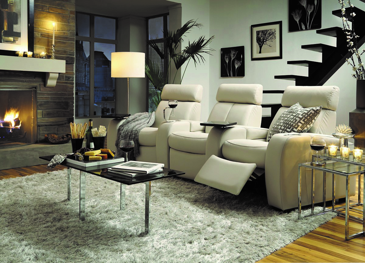 home theater seats - white reclining palliser home theater furniture