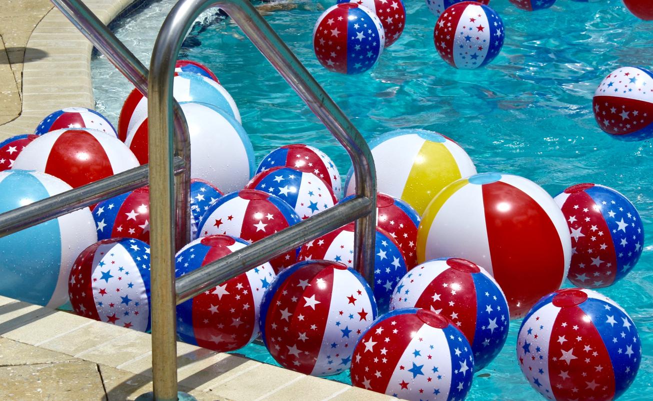 American flag pool floats