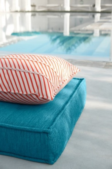 Sunbrella fabric on outdoor pillows